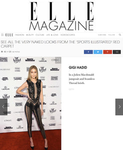 Gigi Hadid in Seamless Thread® and Julien Macdonald