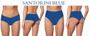 SEAMLESS THREAD SANTORINI BLUE Camel No Camel toe