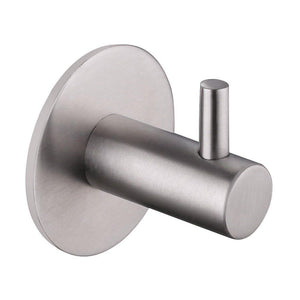 3m Adhesive Robe Towel Hook, Angle Simple SUS304 Stainless Steel Kitchen Towel Hook, Shower Razor Holder, Bath Towel Coat Purse Hanger, Sticky Closet Wall Hook No Drilling Holes, Brushed Steel