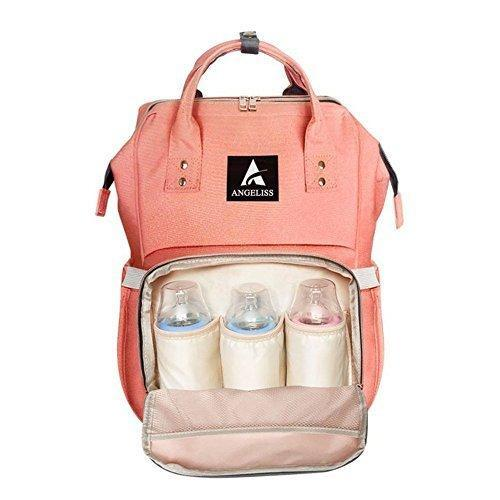 Order now designer baby diaper bag backpack multi function waterproof portable travel nappy bags for boy girl newborn baby care cute eco large small and mini mom tote bag orange