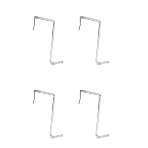 4 Packs Over The Door Hooks, Cubicle Hooks for Hanging, Stainless Steel Heavy Duty Door Hooks for Clothes, Towels, Purse Hanger Hooks for Bathroom, Closet Back of Door Hooks (Sliver)