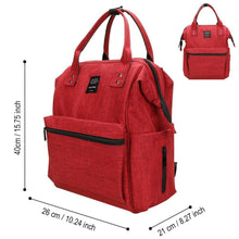 Load image into Gallery viewer, Kitchen diaper bag large capacity multi function stylish and durable waterproof travel backpack nappy bags for baby care by jewelvwatchro red