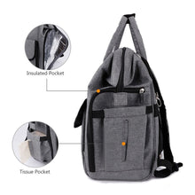 Load image into Gallery viewer, Cheap gyssien diaper bag multi function waterproof travel backpack nappy bags for baby care large capacity stylish and durable gray