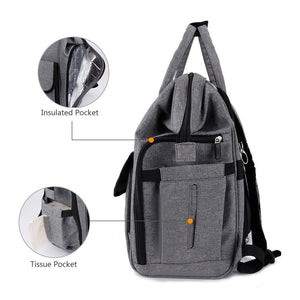 Cheap gyssien diaper bag multi function waterproof travel backpack nappy bags for baby care large capacity stylish and durable gray