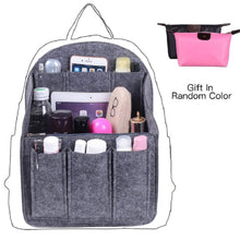 Load image into Gallery viewer, The best felt backpack organizer insert round top purse organizer backpack purse and travel backpack for womenmen travel backpack for women backpack for mummy coach mcm lv jansport anello etc grey large