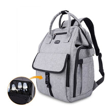 Load image into Gallery viewer, Best seller  gyssien diaper bag multi function waterproof travel backpack nappy bags for baby care large capacity stylish and durable gray