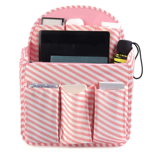 Buy now xcharmer store backpack organizer insert travel purse multi pocket bag in bag organizer large backpack organizer large a pink stripe