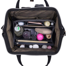 Load image into Gallery viewer, Top rated felt backpack organizer insert round top purse organizer backpack purse and travel backpack for womenmen travel backpack for women backpack for mummy coach mcm lv jansport anello etc grey large