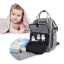 Load image into Gallery viewer, Discover gyssien diaper bag multi function waterproof travel backpack nappy bags for baby care large capacity stylish and durable gray