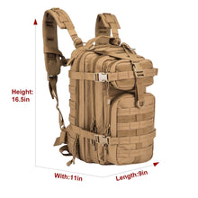 Load image into Gallery viewer, Explore greencity small military assault backpack tactical waterproof backpack hydration backpack pack camel pack for outdoor camping hiking trekking and sports