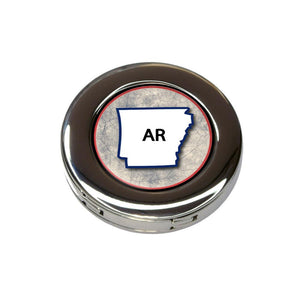 Arkansas AR State Outline on Faded Blue Purse Handbag Hook Hanger Holder