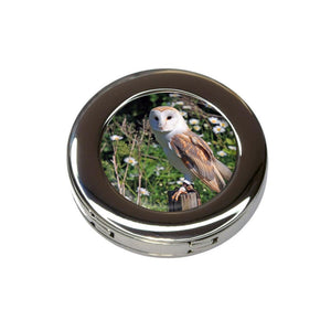 Barn Owl Foldable Retractable Purse Bag Handbag Hook Hanger Holder