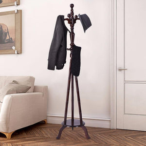 "73"" Free Standing Solid Wood Coat Hat Purse Hanger Tree Stand Rack Furniture Home Furniture Hw54008"