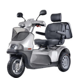 EV-Rider (Afiscooter Breeze S3) All Terrain 3 Wheel Mobility Scooter, Excellent Maneuverability & Full Suspension
