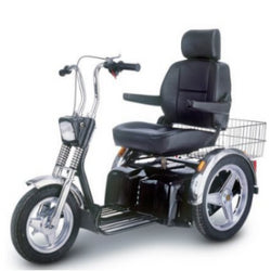 EV-Rider (Afiscooter SE) All Terrain 3 Wheel Mobility Scooter, Excellent Stability & Maximum Comfort Orthopedic Seating