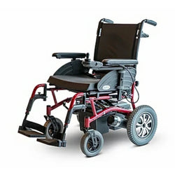 EWheels (EW-M47) Lightweight Folding Electric Wheelchair, Features A Comfort Padded Seat & Back Cushion