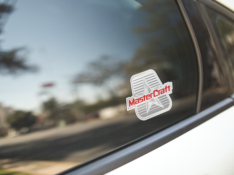 MasterCraft Text Decal White
