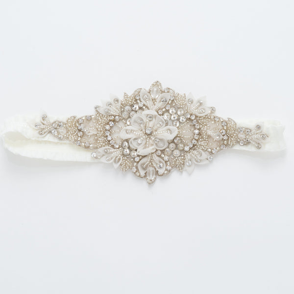 statement single bridal garter - Aliya