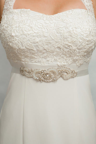 Opal wedding sash SB170675