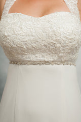 Skinny wedding sash SB160130 - Perfection