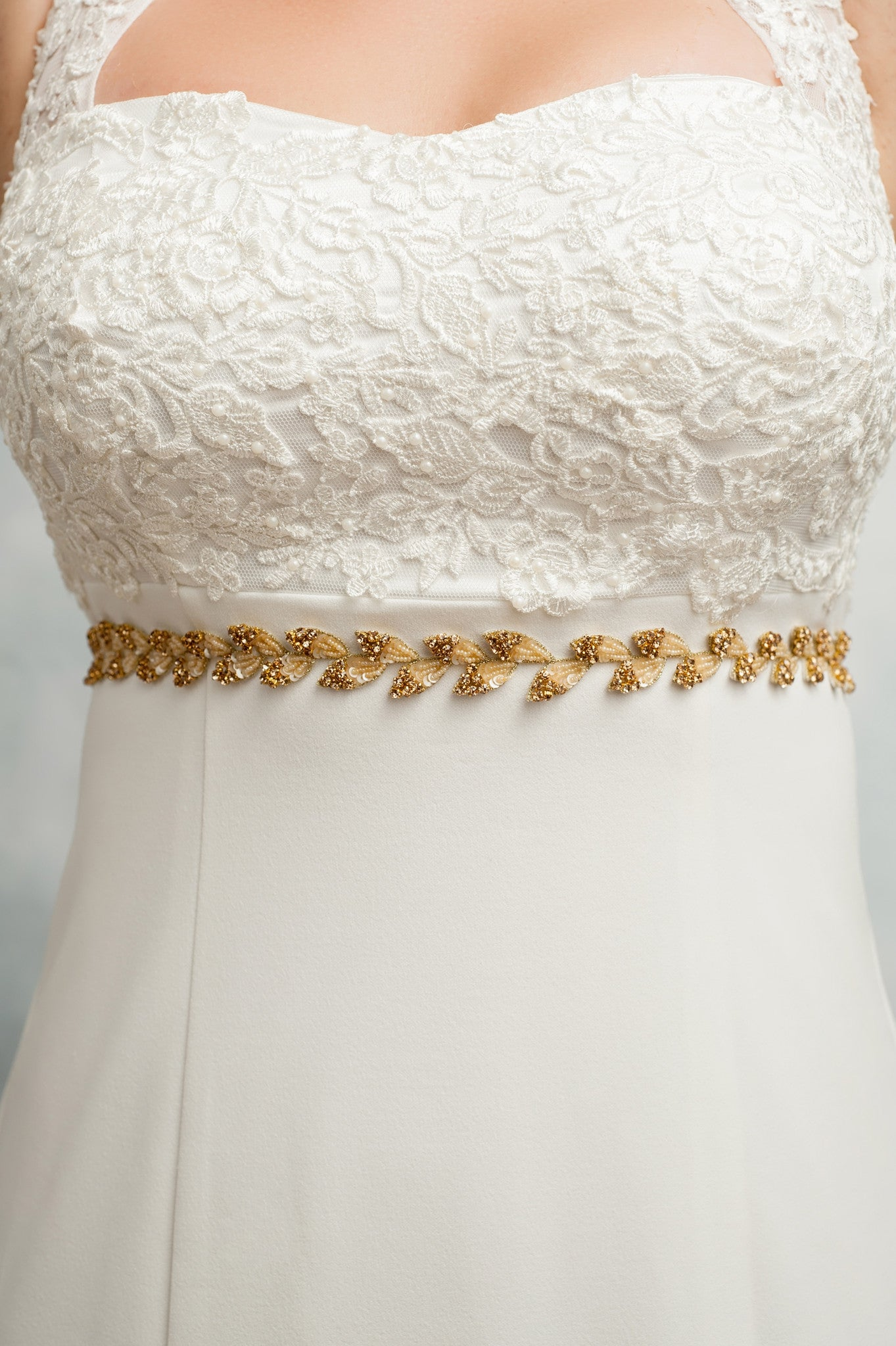Skinny leaves sash SB160303 (As seen on BHLDN)