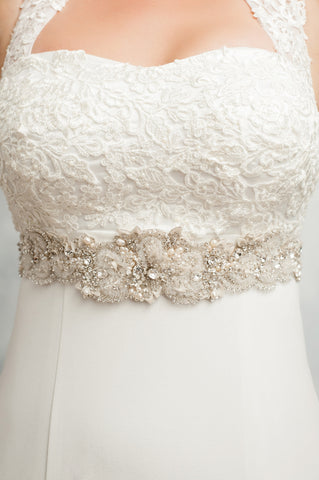 Majestic heavy beaded wedding sash SB170644