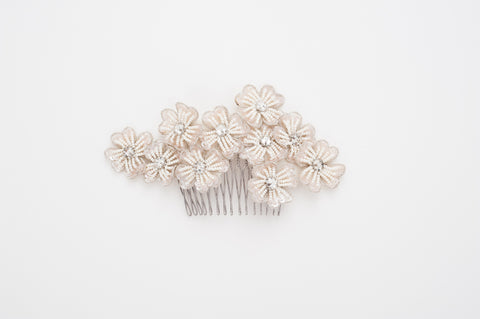 beaded flower comb HP170661