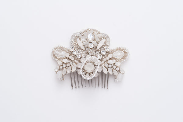 bridal beaded hair comb HP170642