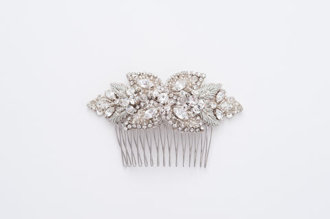 beaded bridal comb - HP170691 Aghate