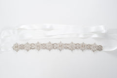 flower beaded art deco wedding sash SB170685
