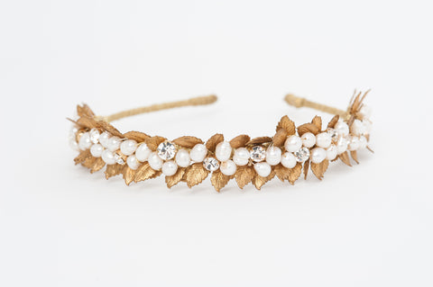 cluster pearls vegetation headband HP170623 Melissa