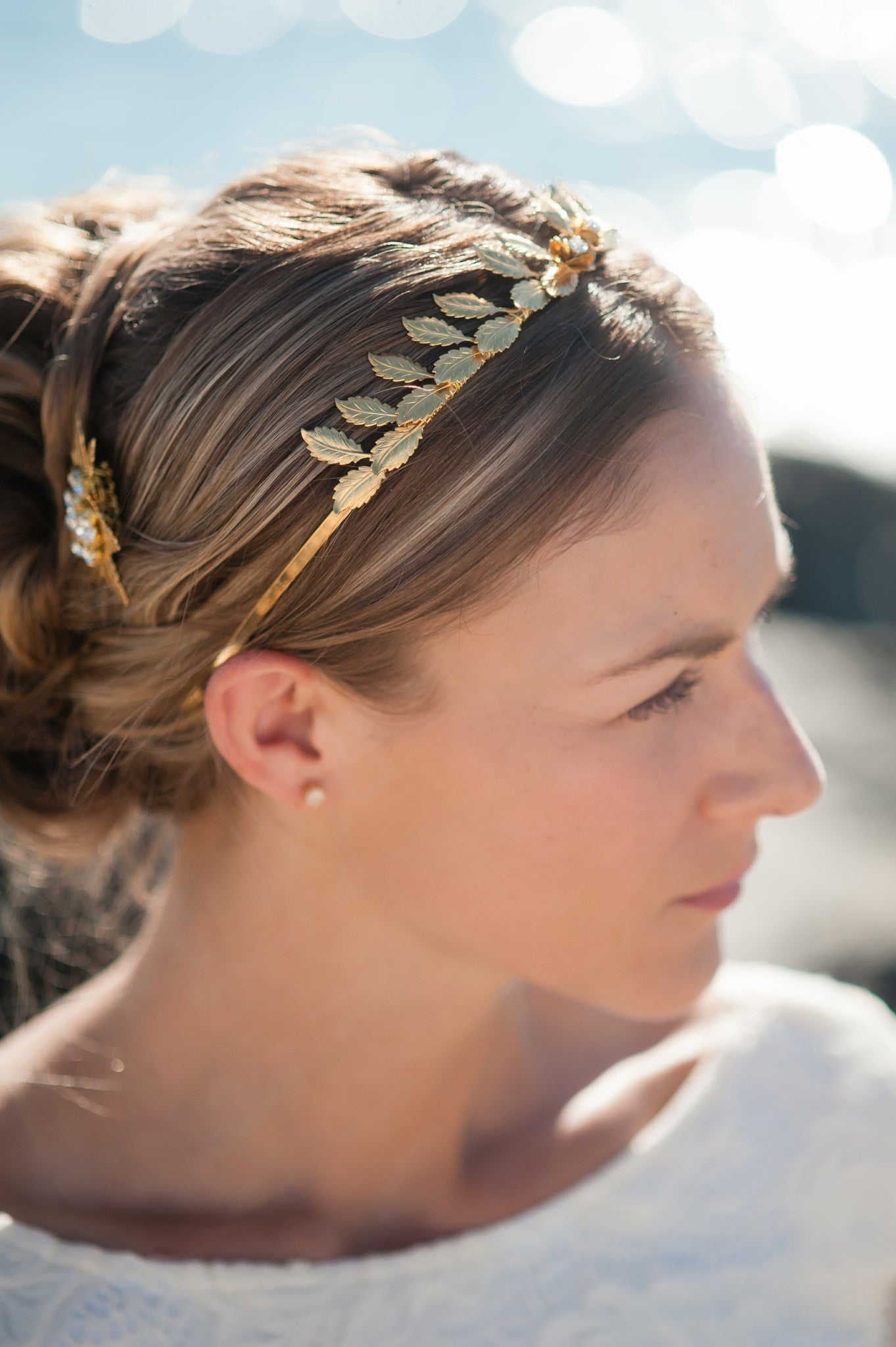 two roses nature crown headband HP170612  Maeve