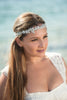 White Opal beaded vine headpiece and sash HPB170639 Coralie