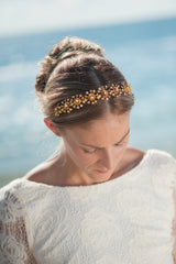 Flower spray headpiece and sash HPB170626