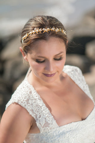 by the sea headpiece and sash HPB170632