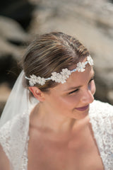 Flower cluster headpiece and sash HPB170659-P