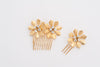 set of 2  brass flowers comb HP170615 Marina