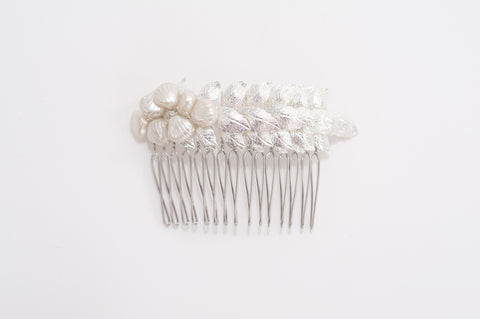 leaves brass hair comb HP170629