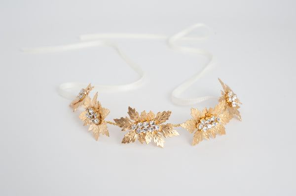 shinny maple leaves Headpiece or sash HPB170613