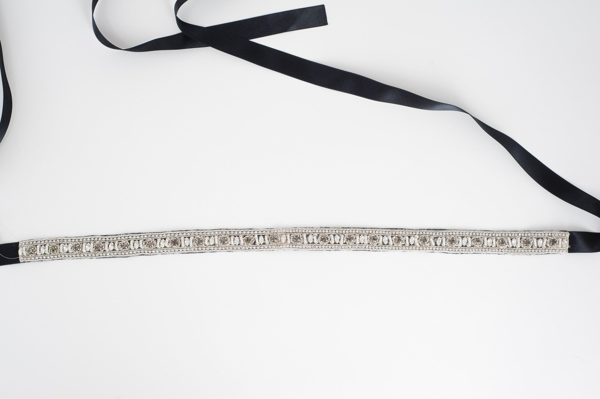 Black crystal wedding sash SB170668