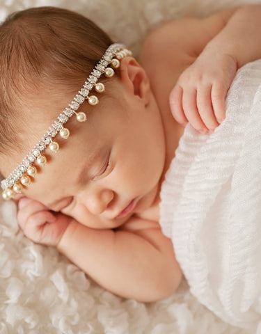 baby rhinestone and pearls Halo