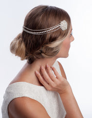 MAGNOLIA - rhinestone chain headpiece - 150020