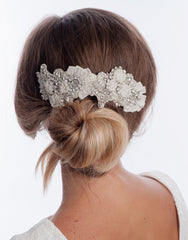 Beaded bridal hair comb Laurette -  150022