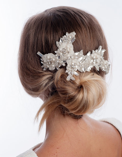Bridal headpiece -lou- large - 150016