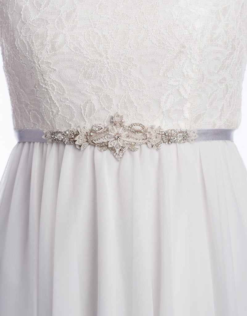 Oxana Beaded bridal belt - 150064