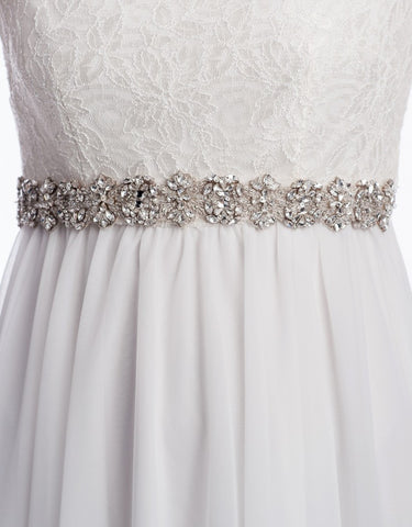 Innessa Beaded bridal sash  - 150062