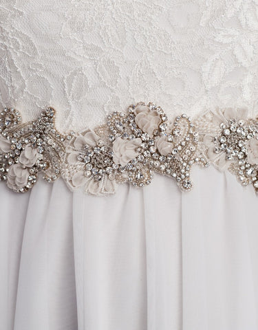 beaded wedding sash - long Laurette - 150024