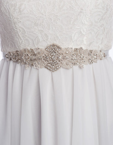 bridal beaded sash - DELPHINE
