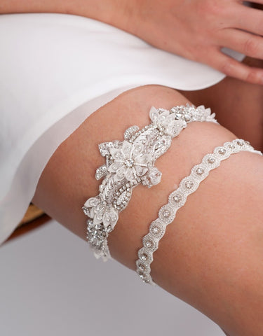 Oxana beaded statement garter set - 150047
