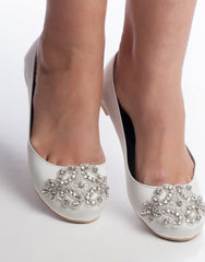 Embellished wedding flats ORIANE -150092